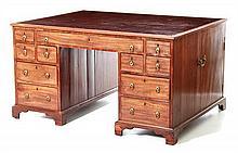 Georgian style mahogany partner's desk