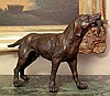 Great Bronze Sculpture Retriever Hunting Dog