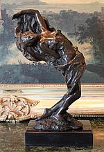 Sensual Reclining Woman Bronze Sculpture