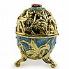 Fleur a L'interieur Faberge Inspired Egg