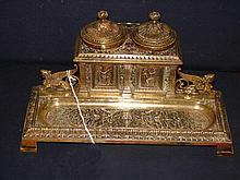 506 Fine Quality Grand Tour Style Brass Inkwell