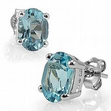 Blue Topaz Earrings