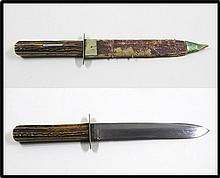 Old antique Sheffield bowie knife