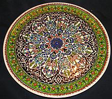 ANTIQUE 30s PERSIAN POTTERY CHARGER