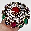 Statement Ruby & Topaz Ring