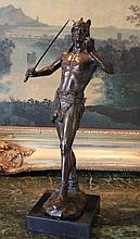 Royal Nude with Sword Bronze Sculpture After A. Le
