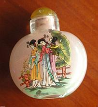 Interior Painted Glass Snuff Bottle