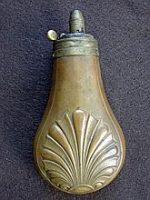 Powder Flask depicting Ornate Pattern
