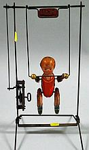 Lithographed Tin ~Tik Tak~ Wind-up Acrobat Toy