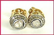 Victorian-Inspired Diamond Stud Earrings