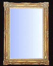Tuscany styled mirror with gold gilt swept frame