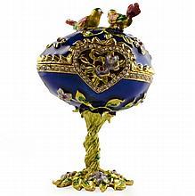 Oiseaux Sur Le Dessus Faberge Inspired Egg