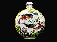 Chinese Hand Painted Cloisonne Snuff Bottle