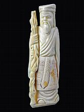 Hand Carved Bone Okimono Figure