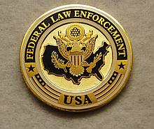 THIN BLUE LINE FEDERAL LAW ENFORCEMENT Badge