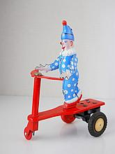 Mechanical Clown Tin Toy