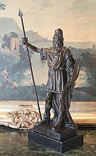 Roman Warrior Bronze Sculpture