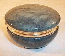 Genuine Alabaster Hand Carved Marble Container