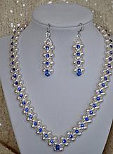 Hand made Swarovski Crystal & Pearl Jewelry Set