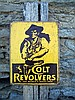 Vintage Style Western Colt Revolver Metal Sign