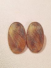Vintage 1970s Yves Saint Laurent Earrings.
