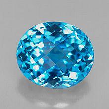 8.54ct Swiss Blue Topaz~ size 12.47 x 10.72 x 8.76