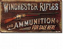 Winchester Rifles and Ammo Vintage-style Sign