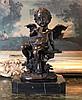 Flute Cherub Bronze Sculpture