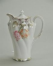 Two R.S. Prussia Chocolate Pot