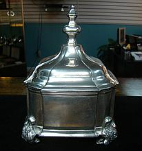 Pewter Chippendale Trinket, Jewelry Box