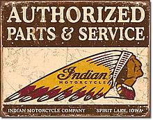 Indian Motorcycle Parts Vintage-style Sign