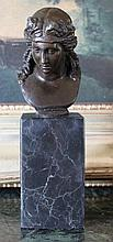 Beautiful Female Bust Bronze Sculpture