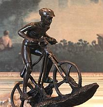 Bronze Sculpture Mountain Biker