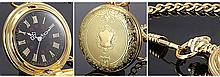 14K Gold Skeleton Carved Antique Pocket Watch