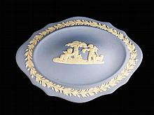 Wedgewood Blue Jasperware Trinket Box