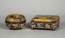 Two Small Cloisonne Containers