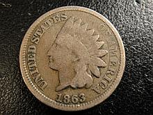 Mint at Philadelphia: 1863 US Indian Head Cent