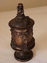 Aesthetic Bronze Tobacco Jar