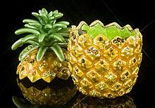 Stunning Jeweled Pineapple Trinket Box