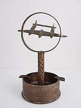 World War II Trench Art Bullet Airplane Ashtray