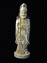 Large Oriental bone Okimono of Chinese Immortal