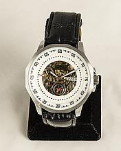 Contemporary Skeleton Stainless Steel Watch