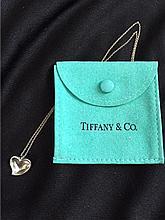 Sterling Tiffany & Co. Elsa Peretti Heart Necklace