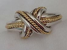 Tiffany & Co 18kt Gold & Sterling Silver Ring