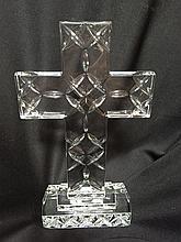 Modern Pressed Glass Crucifix Cross