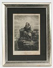Thomas Nast, 19thc Engraving, Moses on Mount Nebo