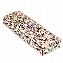 Intricate Mother of Pearl Inlaid Lacquer Ware Box