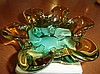Vintage Italian Murano Glass Ashtray, early 1960s.