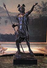 Magnificent Bronze Sculpture Viking Warrior