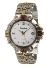 Neiman Marcus Unisex Two-Tone Bracelet Watch